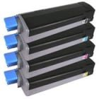 Compatible Type C6 HY Set of 4 Laser Toner Cartridges for Okidata