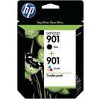 Original HP 901 Black and TriColor Combo Pack, CN069FN