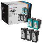 LD Remanufactured Black & Color Ink Cartridges for HP 96 & 97