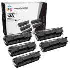 5 Pack of Compatible for HP Q2612A Black Toners