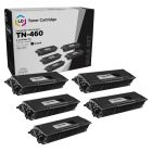 5 Pack Brother TN460 High Yield Black Compatible Toner Cartridges