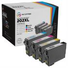 Remanufactured 202XL 4 Piece Set of Ink for Epson
