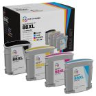 LD Remanufactured 88XL 4 Piece Set of Ink for HP