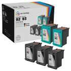 LD Remanufactured Black & Color Ink Cartridges for HP 92 & 93